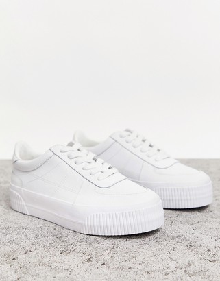 Asos Design DESIGN Depart leather chunky sneakers in white