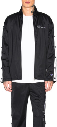 Champion Reverse Weave Champion Full Zip Jacket in Black & White | FWRD