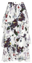Erdem Simone Silk Skirt