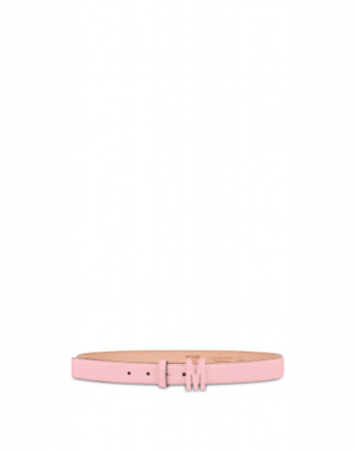 Moschino Belt With M Buckle Woman Pink Size 38 It - (4 Us)