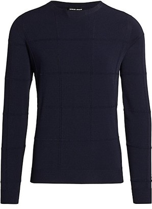 Giorgio Armani Windowpane Knit Sweater