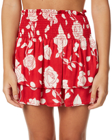 MinkPink Enchanted Rose Womens Mini Skirt