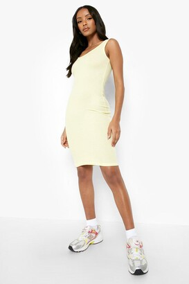 boohoo Petite Rib Scoop Back Midi Dress