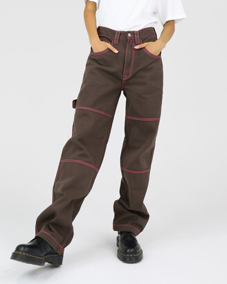 Dakota501 - Women's Brown Relaxed Jeans - Carpenter Pant - Size One Size, 6 at The Iconic