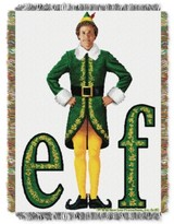 Warner Brothers Warner Brothers Elf Movie Pose Triple Woven Tapestry Throw