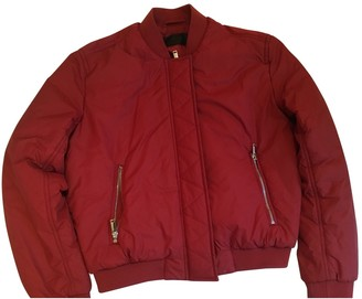 Ikks Red Leather Jacket for Women
