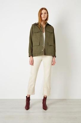 Iden - Lace Back Sustainable Safari Jacket - xsmall - Green