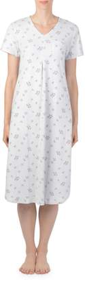 Claudel Floral Short-Sleeve Nightgown