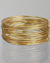 R.J. Graziano set of 24 - gold plated thin bangles