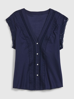 Gap Sleeveless Lace Top