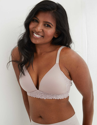 aerie Real Sunnie Wireless Lightly Lined Lace Bra