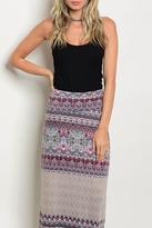 Promesa USA Pattern Maxi Skirt
