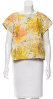 Alice + Olivia Floral Pattern Short Sleeve Top