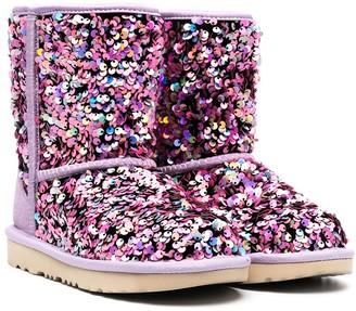 Ugg Kids Sequin-Embellished Ankle Boots