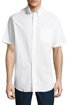 Brooks Brothers Solid Seersucker Short Sleeve Sportshirt