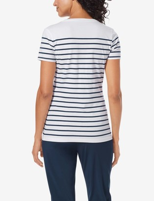 Tommy John Women's Second Skin V-Neck Tee, Stripe