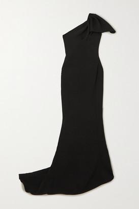 Maticevski Accompany One-shoulder Draped Cady Gown - Black