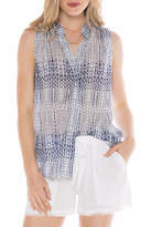 Bella Dahl Sleeveless Pleat Shirt