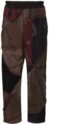By Walid Gerald patchwork cropped trousers