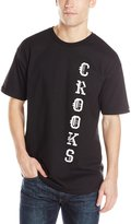 Crooks & Castles Men's Knit Crew T-Shirt-Crooks 7-Bit