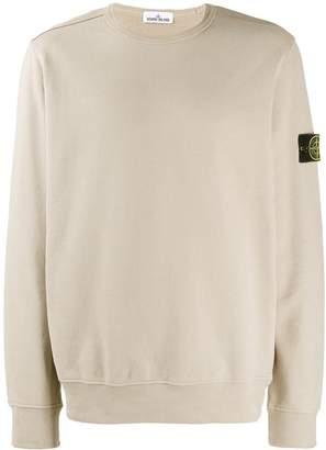 Stone Island sweatshirt with logo patch