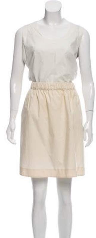 Marni Sleeveless Midi Dress White Sleeveless Midi Dress