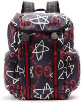 Gucci Ghost-print canvas backpack