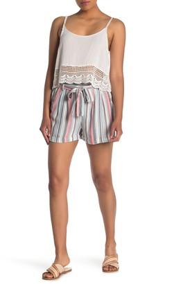 Angie Stripe Print Woven Shorts