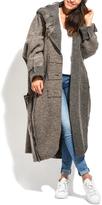 Everest Gray Wool-Blend Full-Length Coat - Plus Too