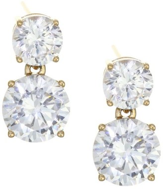 Adriana Orsini 18K Goldplated Sterling Silver Double Round Stud Earrings
