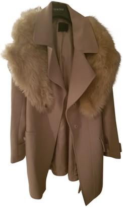 Pinko Beige Faux fur Coat for Women
