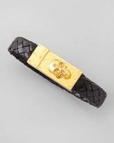Alexander McQueen Leather Bracelet with Skull Clasp
