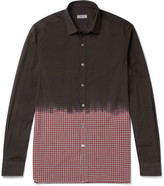 Lanvin - Dip-dyed Checked Cotton Shirt
