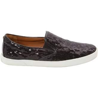 Jimmy Choo Black Glitter Flats
