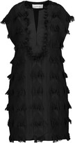 Derek Lam 10 Crosby Fringed embroidered cotton-blend and linen mini dress