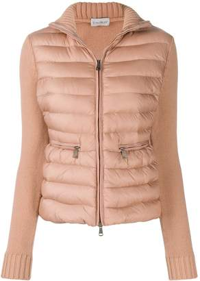 Moncler padded panel knitted jacket