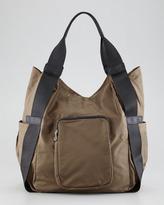 Co-Lab by Christopher Kon Haylee Nylon Hobo Bag, Khaki