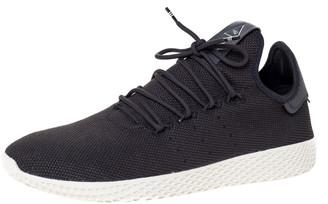 adidas Pharrell Williams x Dark Grey Cotton Knit PW Tennis Hu Sneakers Size 46
