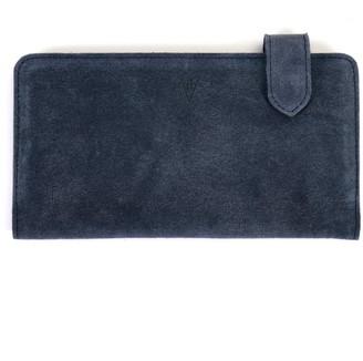 Hiva Atelier Fluctus Suede Wallet Navy Blue