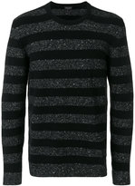 Roberto Collina crew neck striped jumper - men - Silk/Cotton/Nylon/Alpaca - 48