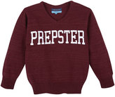 Andy & Evan Prepster V-Neck Pullover Sweater, Red, Size 2T-7Y