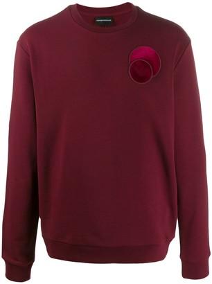 Emporio Armani Circle patch jumper
