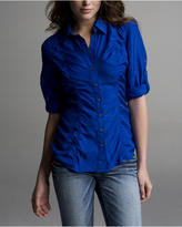 Ruched Silk Shirt