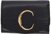 Chloé Black C Trifold Wallet