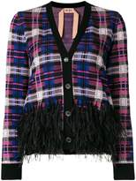 No.21 embellished check cardigan