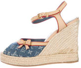 Louis Vuitton Denim Monogram Idylle Sandals