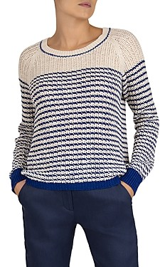 Gerard Darel Elvezia Sailor-Style Striped Cotton Sweater