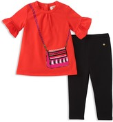 Kate Spade Girls' Trompe L'Oeil Top & Leggings Set