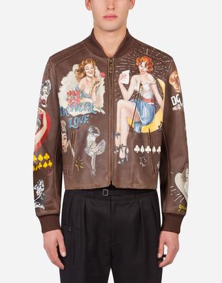 Dolce & Gabbana Printed Bullskin Coat