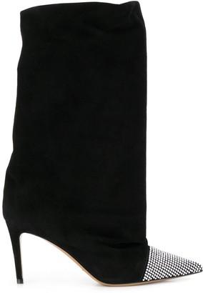 Alexandre Vauthier Crystal Embellished Boots